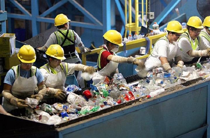 quy trình tái chế rác thải nhựa