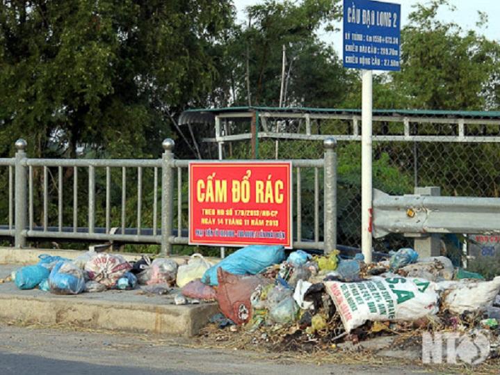 biển cấm đổ rác