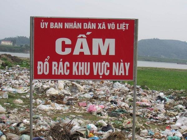 cấm đổ rác