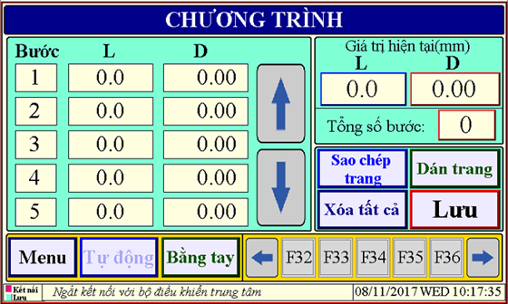 Bộ điều khiển thông số hoạt động của máy chấn tôn thủy lực