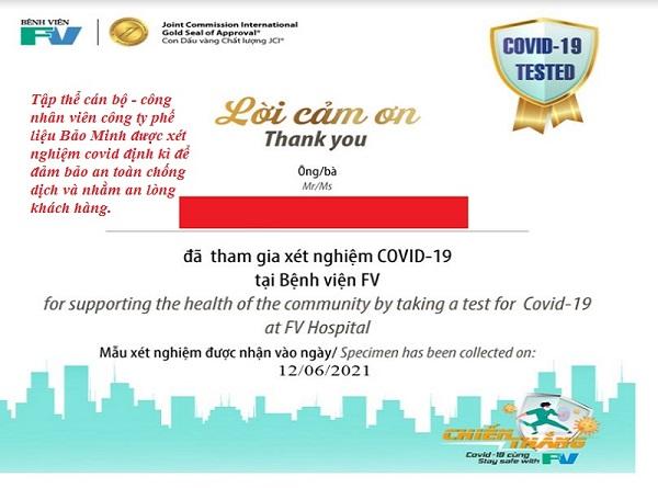 xét nghiệm covid