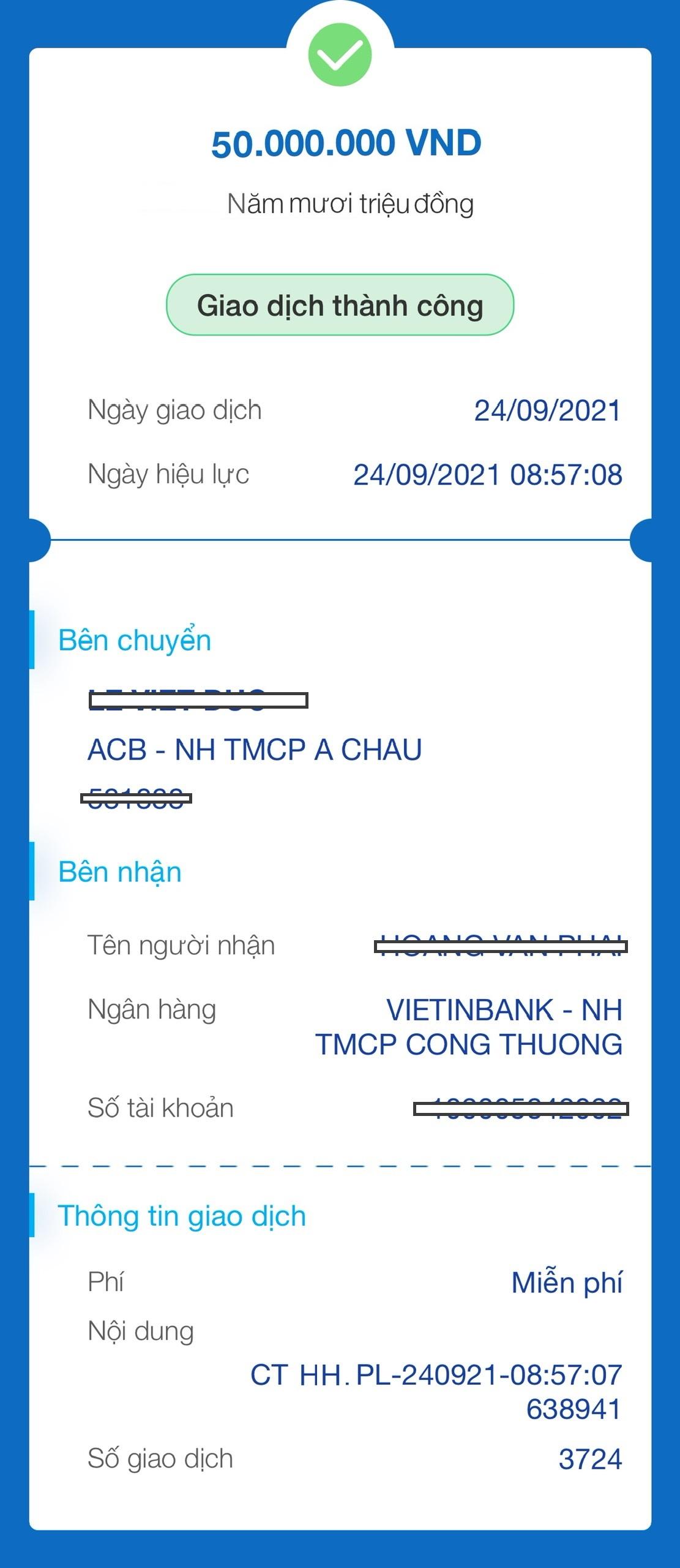 Phế liệu Bảo Minh chi hoa hồng